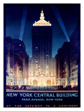 New York, Central Building, 1930 Giclee Print by Chesley Bonestell