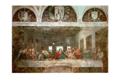 The Last Supper, c.1498 (pre-restoration) Art Print