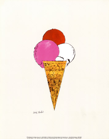 Ice Cream Dessert, c. 1959 (red, pink and white) Reproduction d'art