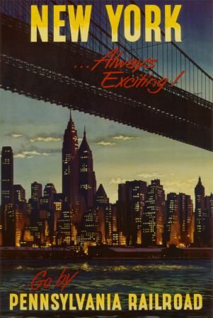New York by Pennsylvania Railroad Plakat
