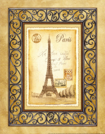 Paris Postcard Posters by Andrea Laliberte at AllPosters.com