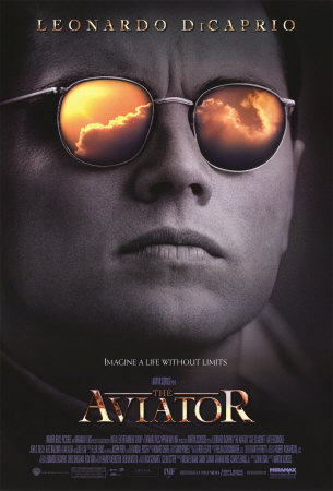 """The Aviator"" movie poster artwork starring Leonardo DiCaprio"
