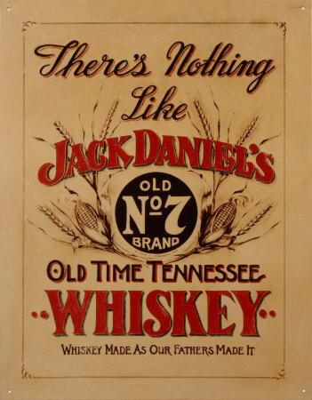 Jack Daniel's Whiskey Tin Sign