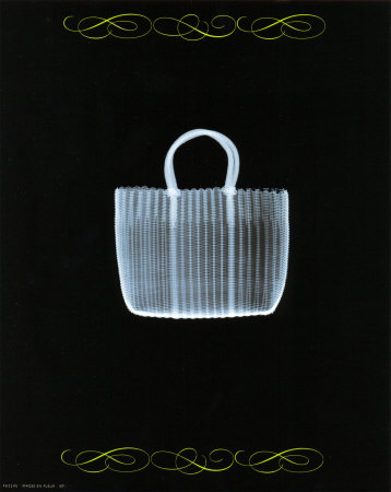 Straw Bag in Blue Posters