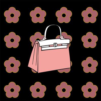 Purse in Soft Rose Prints