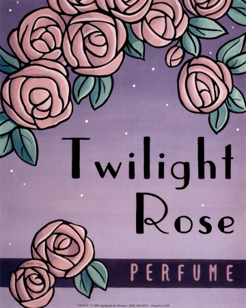 Twilight Rose Art Print