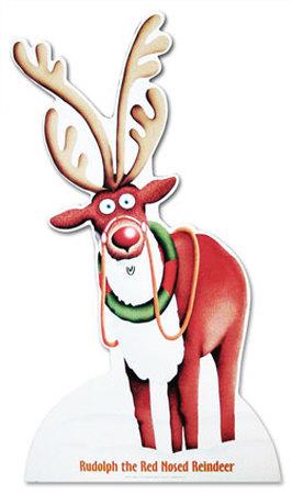 Rudolph el reno de la nariz roja Cardboard Cutouts