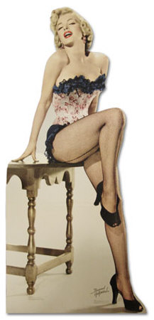 Marilyn Monroe - Net Stockings Lifesize Standup Poster Stand Up