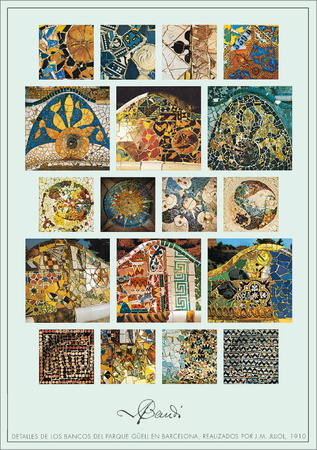 Parque Guell Posters by Antoni Gaudí