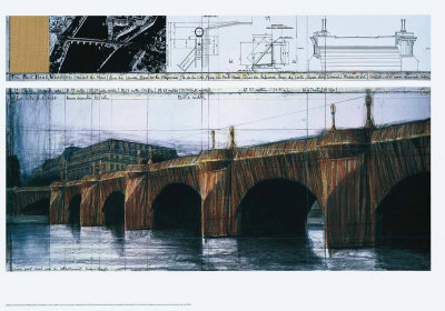 Le Pont Neuf Wrapped I Posters af  Christo