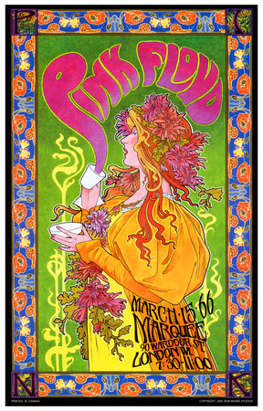Pink Floyd in Concert, London, 1966 Art by Bob Masse