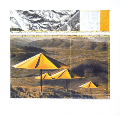The Yellow Umbrellas, 1991 Plakater af  Christo