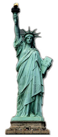 Statue of Liberty Lifesize Standup Cardboard Cutouts
