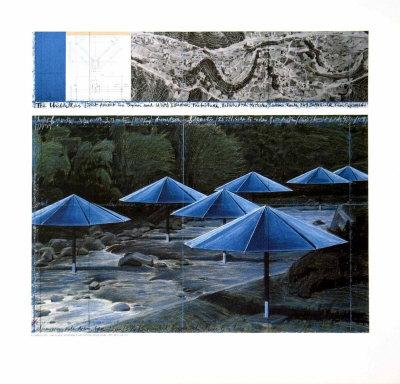 The Blue Umbrellas, 1991 Poster af  Christo