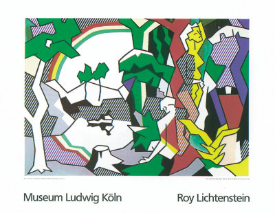 Landscape with Figures, 1980 Serigraph by Roy Lichtenstein