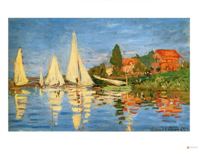 Boating at Argenteuil Giclee Print by Claude Monet