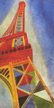 Eyfel kulesi sanatsal reprodüksiyon