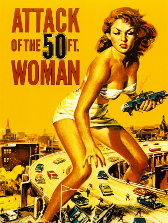 Attack of the 50 Foot Woman Art Print