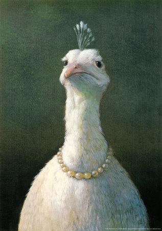 Fågel med pärlor|Fowl With Pearls Affischer av Michael Sowa