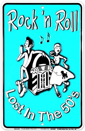 Rock'n Roll Tin Sign