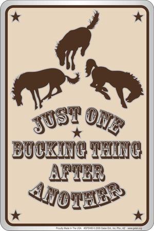 Bucking Thing Tin Sign