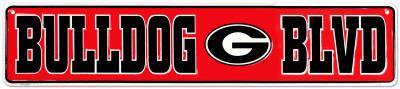 Georgia Bulldog Tin Sign