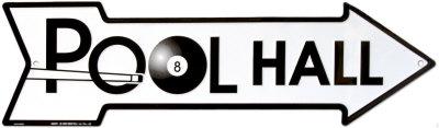 Pool Hall Tin Sign
