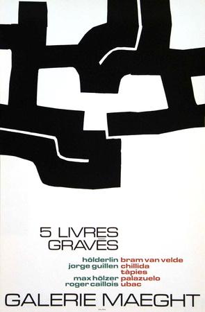 Cinq Livres Graves, 1974 Collectable Print by Eduardo Chillida