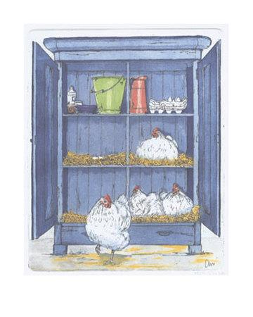 The Egg Factory Poster von Ans Van Der Zweep