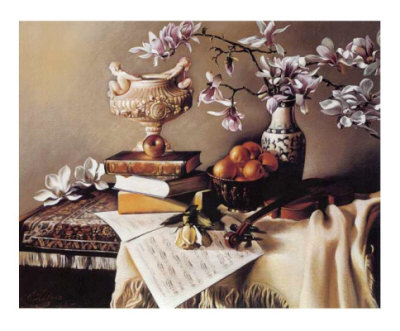 Music and Magnolia Prints by Elena Litvin