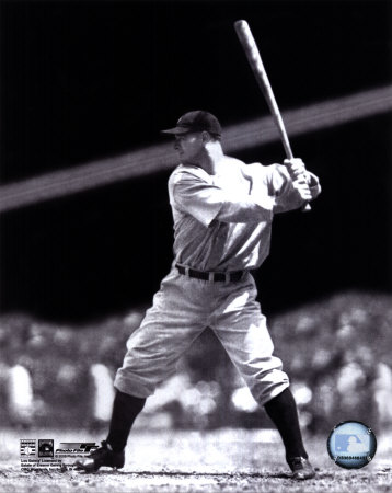 Lou Gehrig - Batting Action Photo