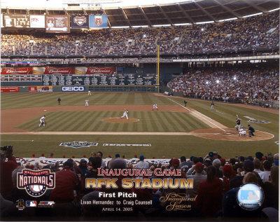 4/14/05 - Inaugural Game RFK Stadium 1st Pitch Photo