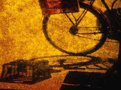 Bicycle Casting Shadow Photographic Print by Andre Burian