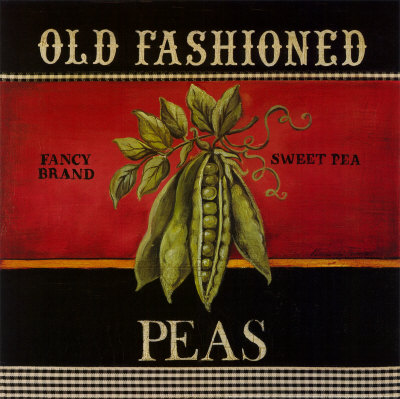 Old Fashioned Peas Art by Kimberly Poloson
