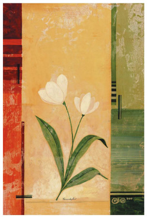 Two White Tulips Prints by Fernando Leal