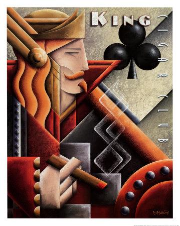 King Cigar Club Poster by Michael L. Kungl
