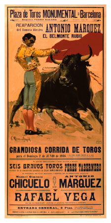 Plaza de Toros Monumental, Barcelona, 1936 Giclee Print by Carlos Ruano-Llopis