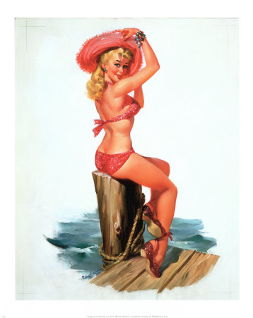 pin up girls art. Vintage Pin-up Girls Posters and Art | The Art of Manliness