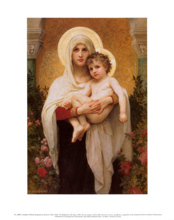 The Madonna of the Roses Reproduction d'art