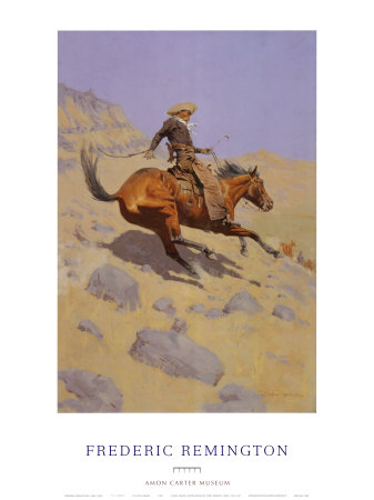 The Cowboy Posters by Frederic Sackrider Remington