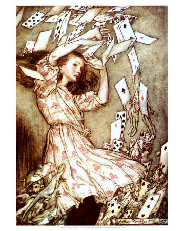 alice in wonderland cartoon cards. Alice and the Pack of Cards
