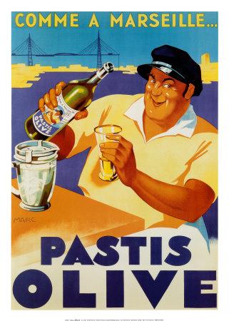 Pastis Olive Plakater