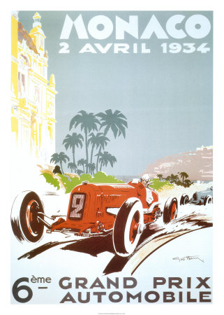 6th Grand Prix Automobile, Monaco, 1934 Posters by Geo Ham