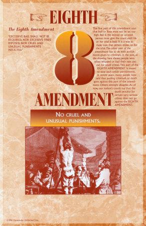 The Bill of Rights - Eighth Amendment Prints