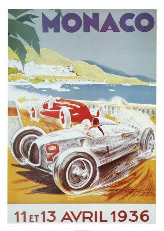 8th Grand Prix Automobile, Monaco, 1936 ポスター : ジョージ・ハム