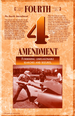 The Bill of Rights - Fourth Amendment Art