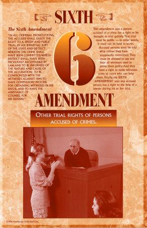 The Bill of Rights - Sixth Amendment Prints