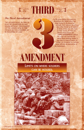 The Bill of Rights - Third Amendment Prints