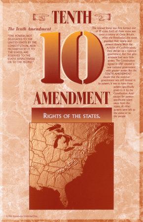 The Bill of Rights - Tenth Amendment Print