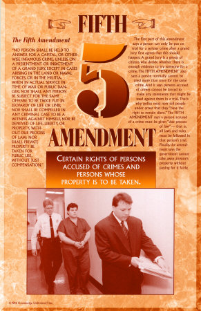 Fifth Amendment Posters at